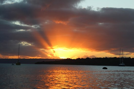 Iririki Island Resort: Sunset over Port Vila