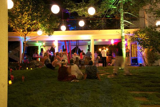 Hawaii Island Retreat at Ahu Pohaku Ho`omaluhia: Wedding courtyard party