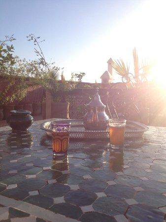 Riad Harmattan : terrasse du riad