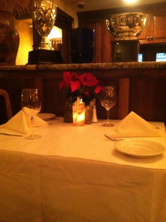 Rosa's Italian Restaurant: The table at Rosa's