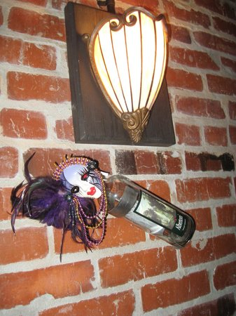 Blue Orleans Creole Restaurant-Downtown: Mardi Gras decor at table