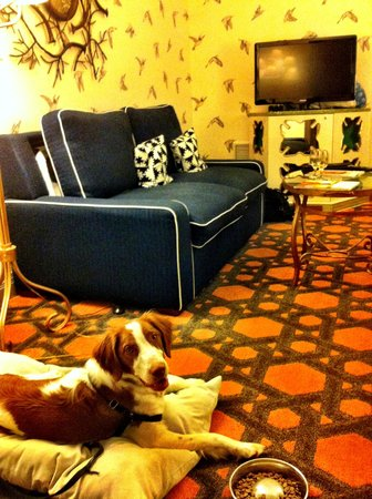 Kimpton Hotel Monaco Portland : The sitting area of our room.