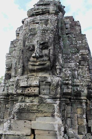 Siem Reap, Cambodia: Four-faced tower -