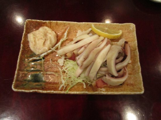 Yuki Japanese Restaurant: Squid (appetizer)