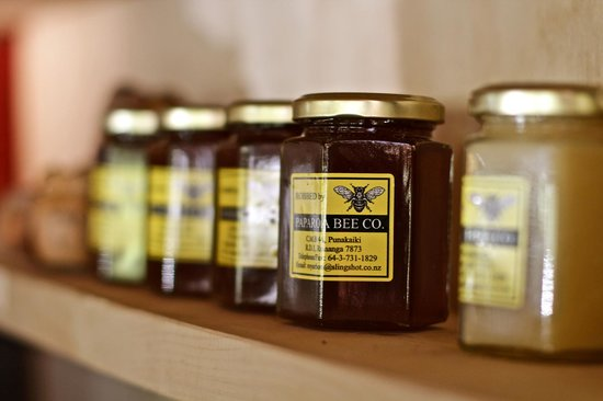 The Cowshed Cafe: local honey