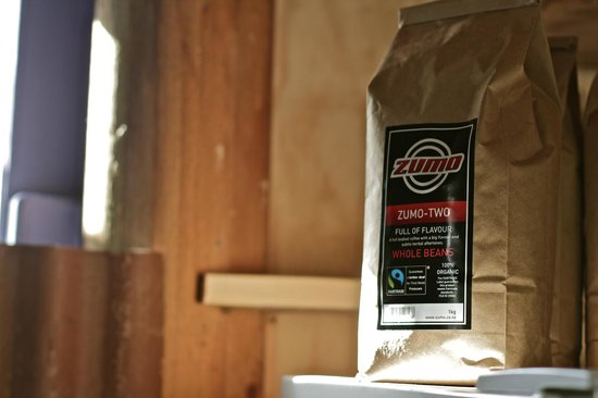 The Cowshed Cafe: 100% organic coffee beans