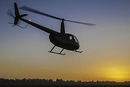 Sunset Flight activities on Santa Barbara Helicopter Tours