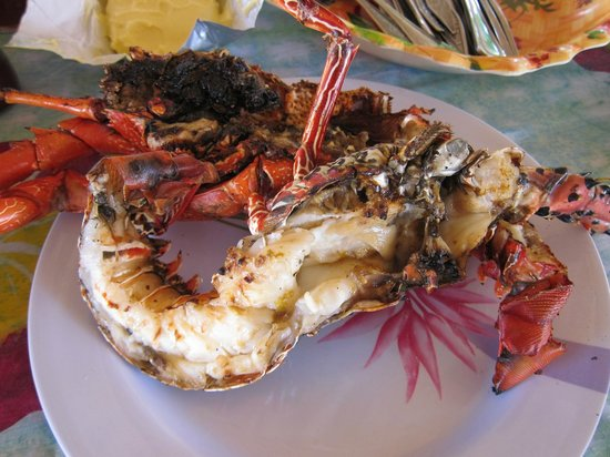 Fatboys Resort: Local crayfish