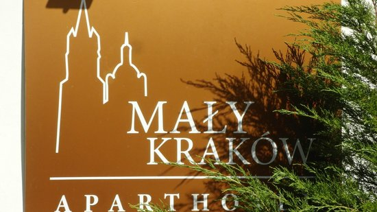 Maly Krakow Aparthotel : Sign for hotel you will see from street.