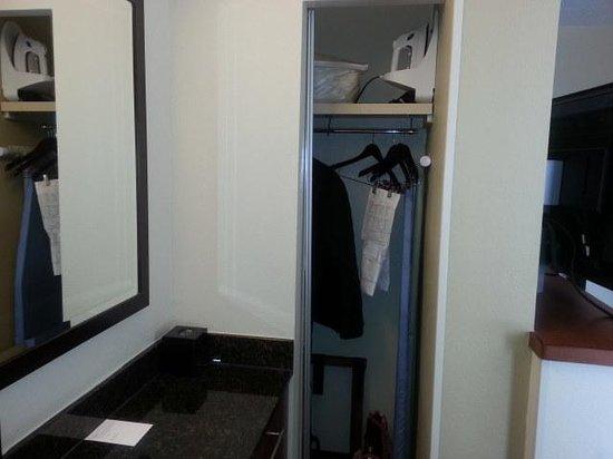 Hyatt Place Atlanta Airport North : Tiny closet