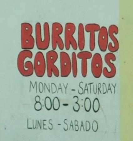 Burritos Gorditos: name and hours
