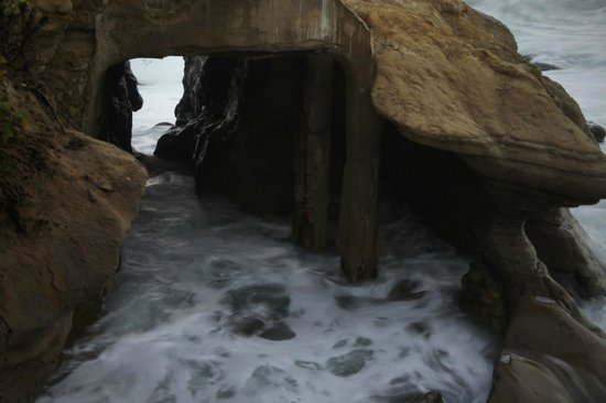 La Jolla Cove Hotel & Suites: caves across from the hotel