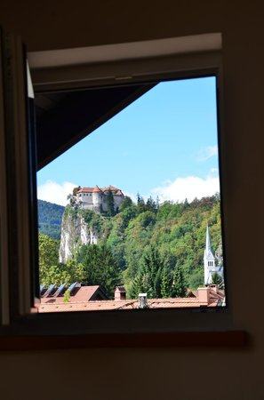 Vila Cvetka Apartments: View of castle from our room