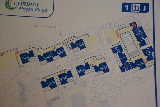 Cordial Mogan Playa : Map of suites.
