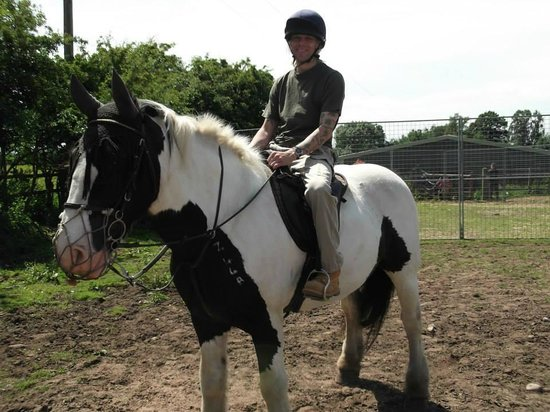 Cannock Chase Trekking Centre: Me with Tom