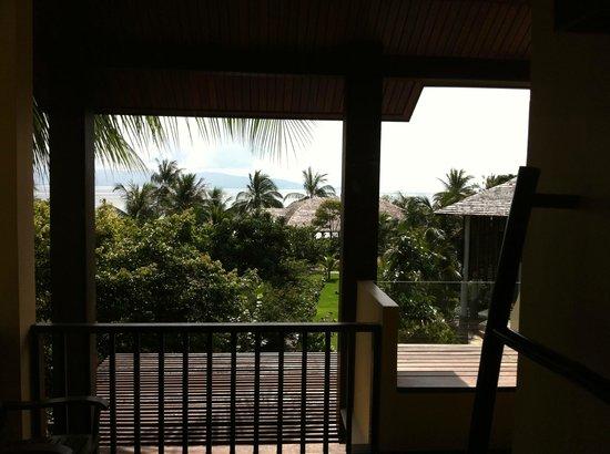Chantaramas Resort & Spa: la vue depuis le balcon de la chambre avec jaccuzzi