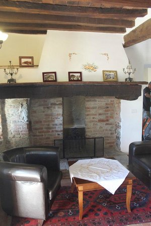 Villa Toscana La Mucchia : Our fireplace and sitting area