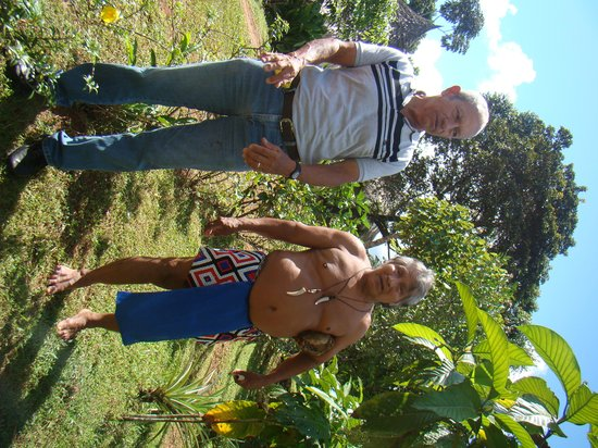 Embera Village Tours & More: Our guide Daniel with the Shaman