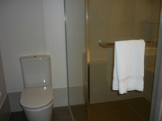 Crowne Plaza Adelaide: Walk in shower and a bath is also provided