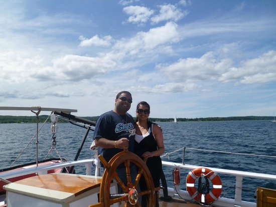 Tall Ship Manitou - Day Tours: My wife & I aboard