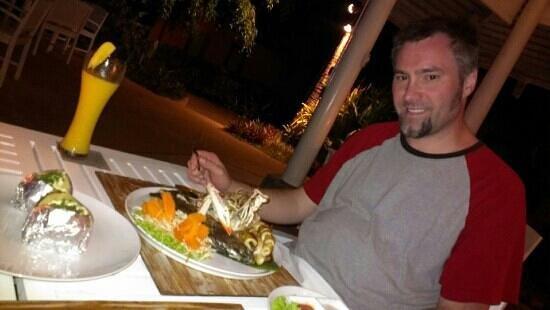Saboey Resort and Villas: best seafood he's had
