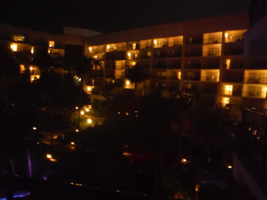 Aruba Marriott Resort & Stellaris Casino: View of the hotel from our room at night