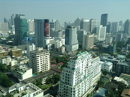 Conrad Bangkok Hotel: view from the room