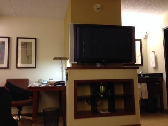 Hyatt Place Auburn Hills : TV in king bedroom