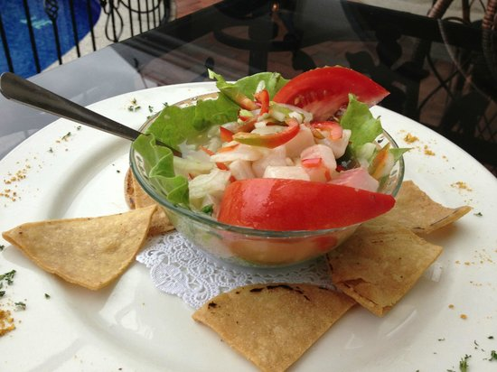 Hotel Santo Tomas: Try the ceviche - it is to die for!!!