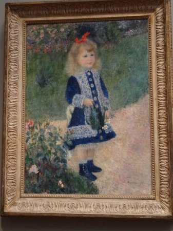 """National Gallery of Art : """"Girl with a Watering Can"""" by Renoir"""