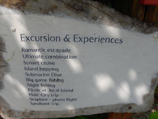 Vivanta by Taj Coral Reef Maldives: Some of the excursions
