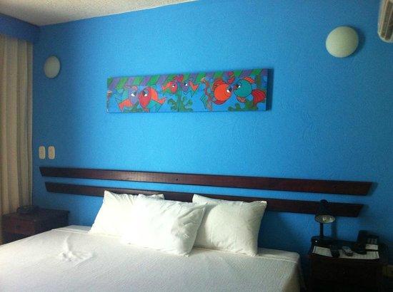Hotel Bahia Taganga : sleeping area of room 405