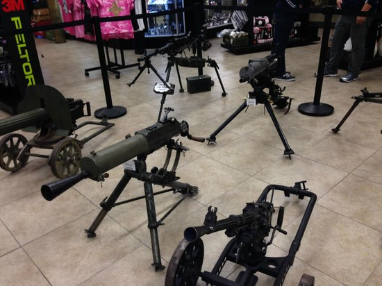 Battlefield Vegas : Some of the guns they have to shoot