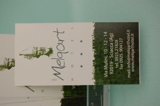 Melqart Hotel: Business Card