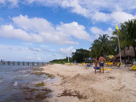 Iberostar Cozumel: Iberostar nice sandy beach for lounging but not swimming