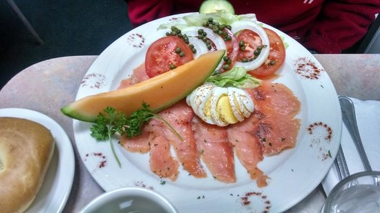 Peg's Glorified Ham n Eggs: Lox and Bagels
