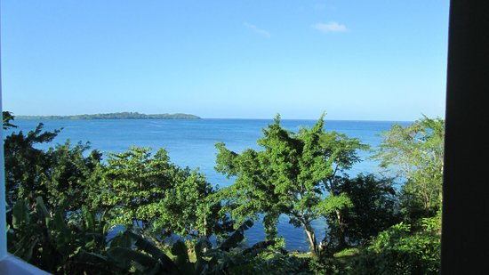 Rhodes Beach Resort Negril: Breakfast view from Bayview onsite restaurant