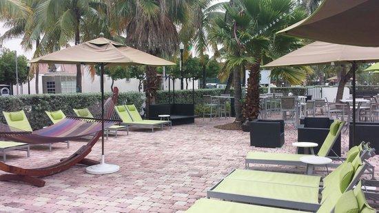 Washington Park Hotel: Terrasse