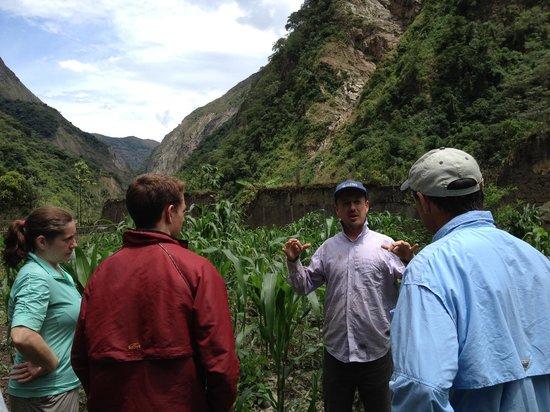 Yellow River: Andrew leading a tour along the Urubamba