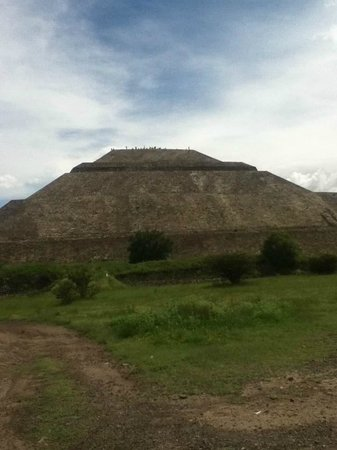 Basilica Lady of Guadalupe and Teotihuacan: Pyramid my grandfather and I climbed