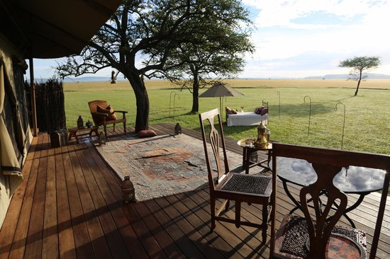 Singita Sabora Tented Camp : Outside deck and View