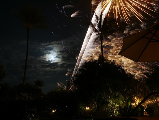 Shiva Samui – The New Name for Samui Beach Village: Firework display on the beach - very reasonably priced for guests