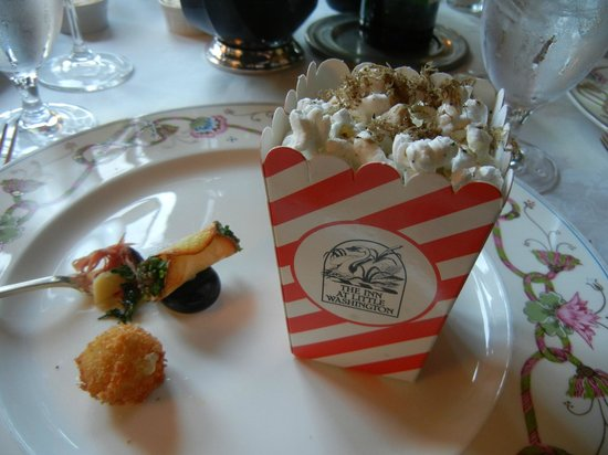 Inn at Little Washington: Popcorn with truffles plus a bonus