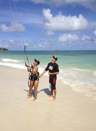 Saint George, Antigua: You're safe in the hands of our local pro kiteboarder and Kitesurf Antigua instructor, Jake Kels