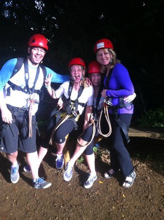 Outfitters Kauai: we all had a fun day zip lining