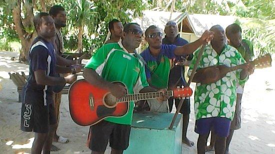 The Malowiarua local string band, Pele Island