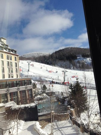 Fairmont Tremblant : View from the living room of suite 100/102