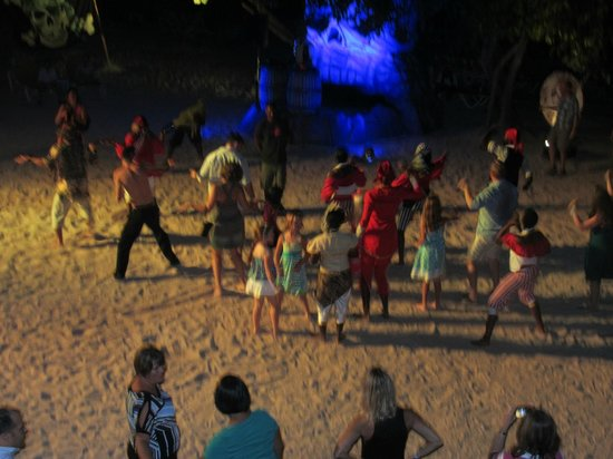 Iberostar Rose Hall Beach Hotel: Beach Party around 10:30PM