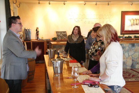 Rappahannock Cellars: We were fortunate to have our tasting led by Allan, one of the older siblings of the winery.