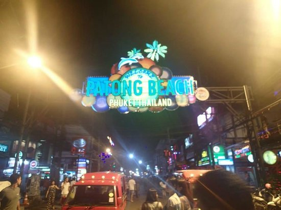 The KEE Resort & Spa: Patong Beach Sign - Hotel is right next to this road